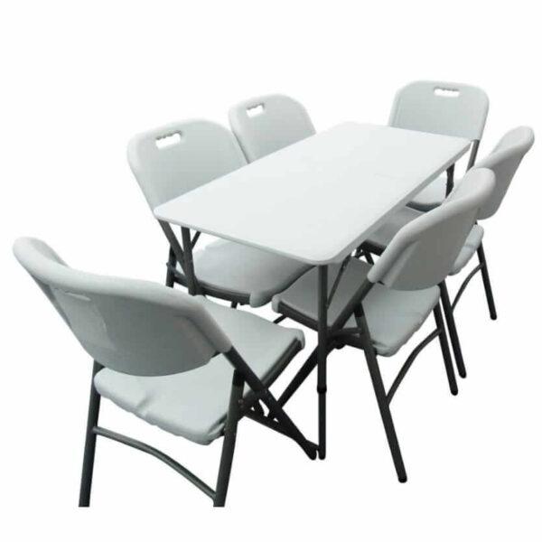 4ft Folding Table & 6 chairs Folding Travel Set