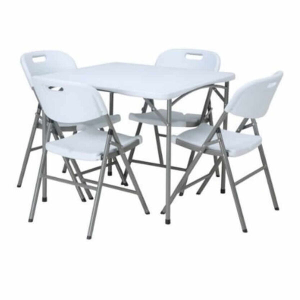 4ft square table and 4 chairs