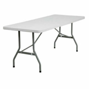 Angled view 6ft folding table