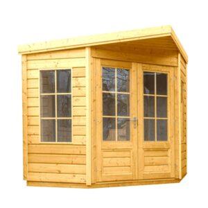 Corner Summerhouse with No background