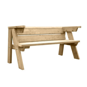 6ft Garden Bench Front Angle No background