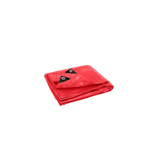 Red Super Tarpaulin on a clear White background