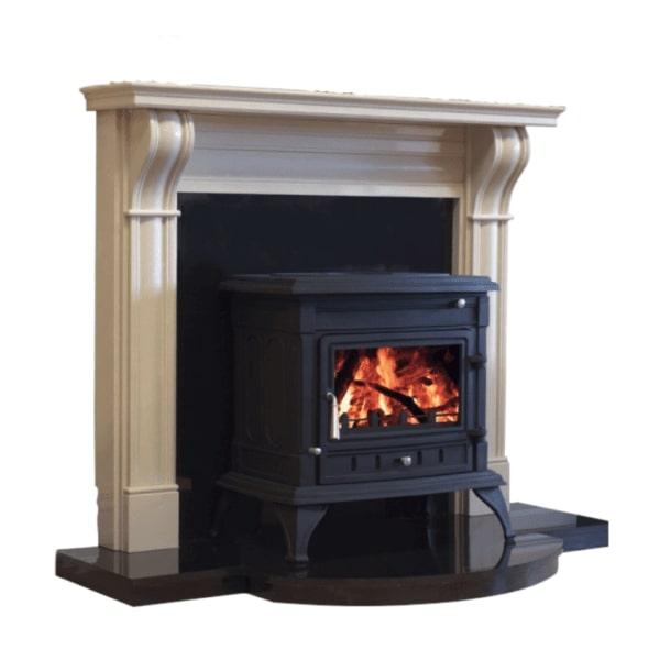 Dublin Corbel Fireplace on a plain white Background