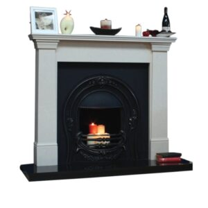 Kildare Fireplace Full Set with lit fire