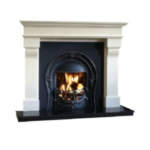 Marseilles Fireplace Full Set with lit fire