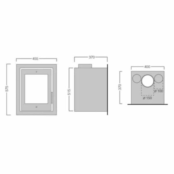 Henley Alvor 400 6kw Technical Drawing