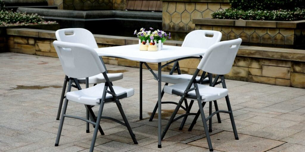 Folding Tables and Chairs Banner Outdoor Furniture