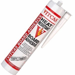 Board adhesive Sealer ina white and black tube on a white background